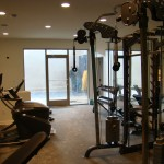 concrete floors home gym