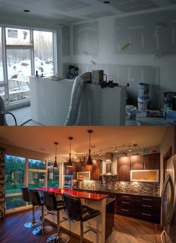 Northland homes duluth Mn Kitchen Before and After